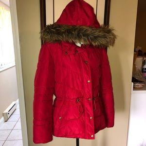 St. John's Bay Red Winter hood coat XL extra large